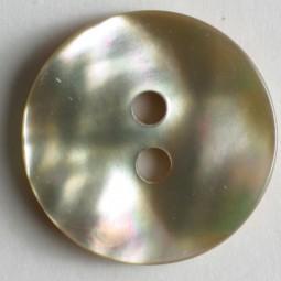 Echt-Perlmuttknopf - BEIGE - Größe: 15mm