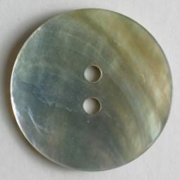 Echt-Perlmuttknopf - WEISS - Größe: 23mm
