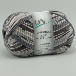 SUPERSOCKE 6-FACH MILANO COLOR - Farbe 1616