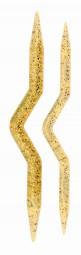 Zopfmusternadeln Champagner Stärke: 7-10mm Set