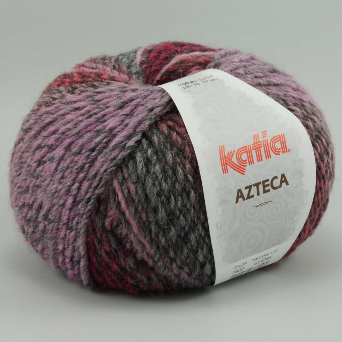 Azteca Lila Gris 7832 Mischwolle Material Wolle