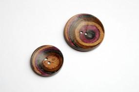 Holzknopf SYMFONIE Lilac Curved Round - Größe: 44mm