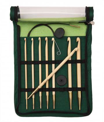 bamboo Austauschbare Häkelnadel (tunesisch) Maß: 3,5-8mm/60-100cm Set