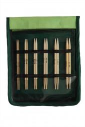 bamboo DELUXE Austauschbare Rundstricknadeln Maß: 3-10mm/60-100cm Set