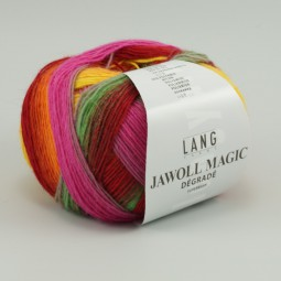 JAWOLL MAGIC DÉGRADÉ - ORANGE/ ROT/ LILA (0059)