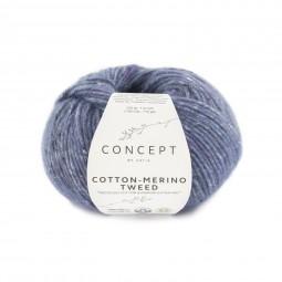 COTTON-MERINO TWEED - CONCEPT - AZULES (508)