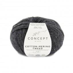 COTTON-MERINO TWEED - CONCEPT - GRIS OSCURO (503)