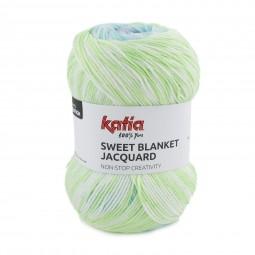SWEET BLANKET JACQUARD - MENTA/ AGUA/ CELESTE (305)