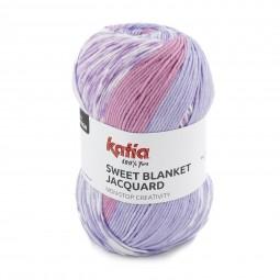 SWEET BLANKET JACQUARD - ROSAS/ LILAS (300)