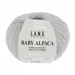 BABY ALPACA - HELLGRAU MELANGE (0003)