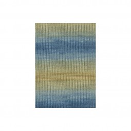 MERINO+ COLOR - OCKER/ BLAU (0111)