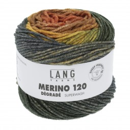 MERINO 120 DÉGRADÉ - ORANGE/ COGNAC (0003)