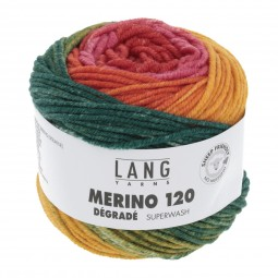 MERINO 120 DÉGRADÉ - ROT/ GRÜN/ ORANGE (0012)