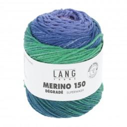 MERINO 150 DÉGRADÉ - BLAU/ PINK/ ROT (0004)