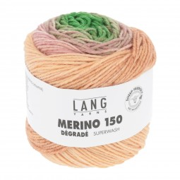 MERINO 150 DÉGRADÉ - GRÜN/ BORDEAUX/ LACHS (0003)