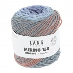 MERINO 150 DÉGRADÉ - HELLBLAU/ GELB/ ORANGE (0001)