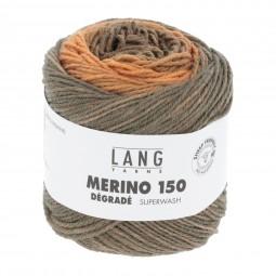 MERINO 150 DÉGRADÉ - ORANGE/ BRAUN/ GRAU (0006)