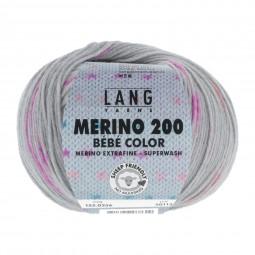 MERINO 200 BÉBÉ COLOR - GRAU/ BUNT (0356)