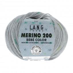 MERINO 200 BÉBÉ COLOR - GRAU/ GRÜN (0317)