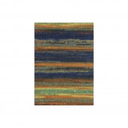MILLE COLORI BIG - BUNT ORANGE/ MARINE/ GELB (0055)