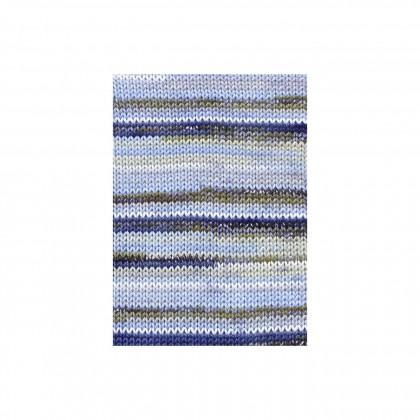 TISSA COLOR - BLAU/ BEIGE BEDRUCKT (0235)
