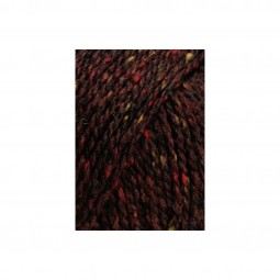 YAK TWEED - BORDEAUX DUNKEL (0164)