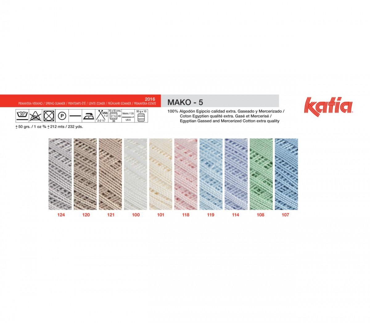 106 - 50 g // ca 212 m Wolle MAKO 5 von Katia ROSA MEDIO