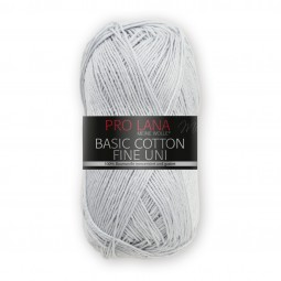 BASIC COTTON FINE UNI - SILBER (91)