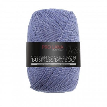GOLDEN SOCKS BUSINESS BAMBOO - MITTELBLAU MELIERT (502)