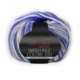 WASH-FILZ COLORI 100 - BLAU/ BRAUN (701)
