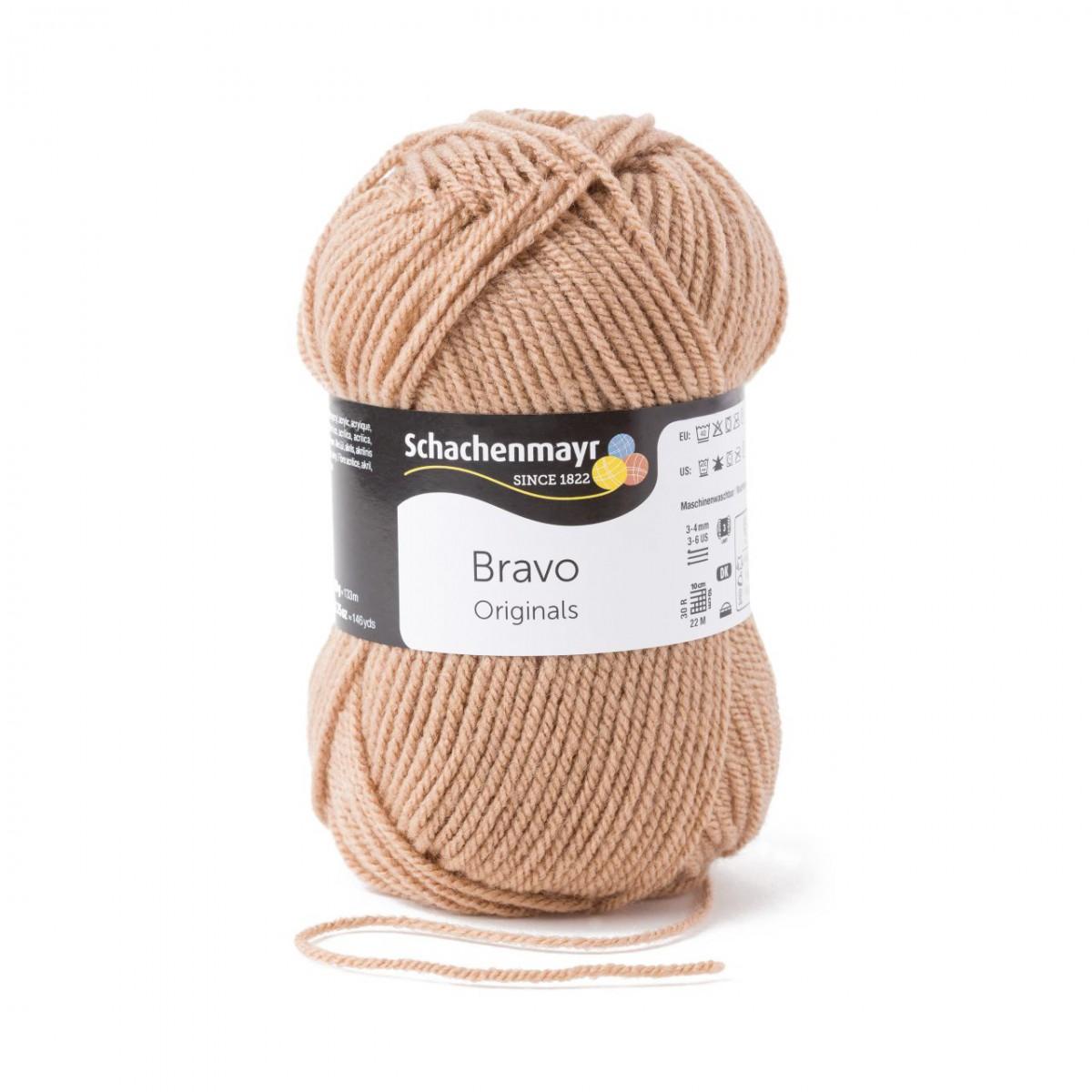 133 m Wolle BRAVO von Schachenmayr 08295 HELLGRAU MELIERT - 50 g // ca