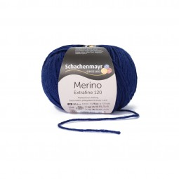 MERINO EXTRAFINE 120 - DEEP BLUE (00158)
