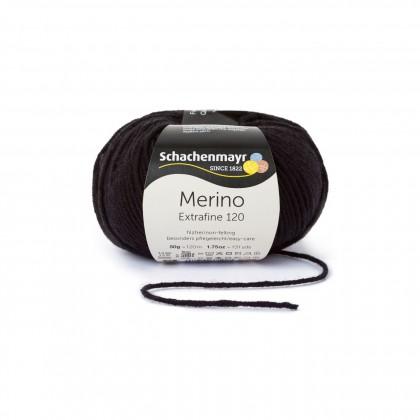 MERINO EXTRAFINE 120 - SCHWARZ (00199)