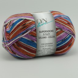 SUPERSOCKE 6-FACH MILANO COLOR - Farbe 1618