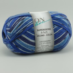 SUPERSOCKE 6-FACH MILANO COLOR - Farbe 1621